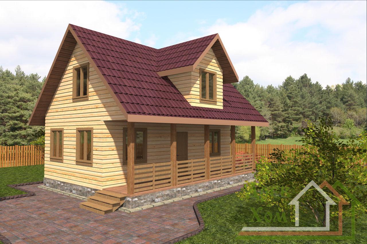 Дом из бруса, проект